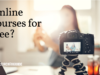 Person using a camera to film online course