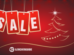 The word SALE next to a Christmas Tree drawing