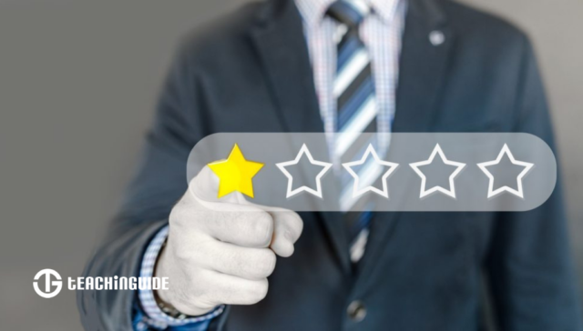 Person giving a review or rating